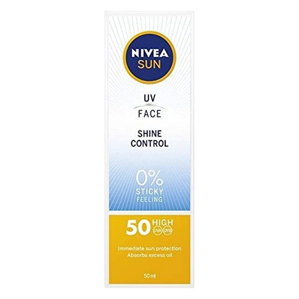 と遊ぶ電気技師賛辞[Nivea ] ニベアサンUv顔日焼け止めクリームのSpf 50、輝き制御、50ミリリットル - NIVEA SUN UV Face Suncream SPF 50, Shine Control, 50ml [並行輸入品]
