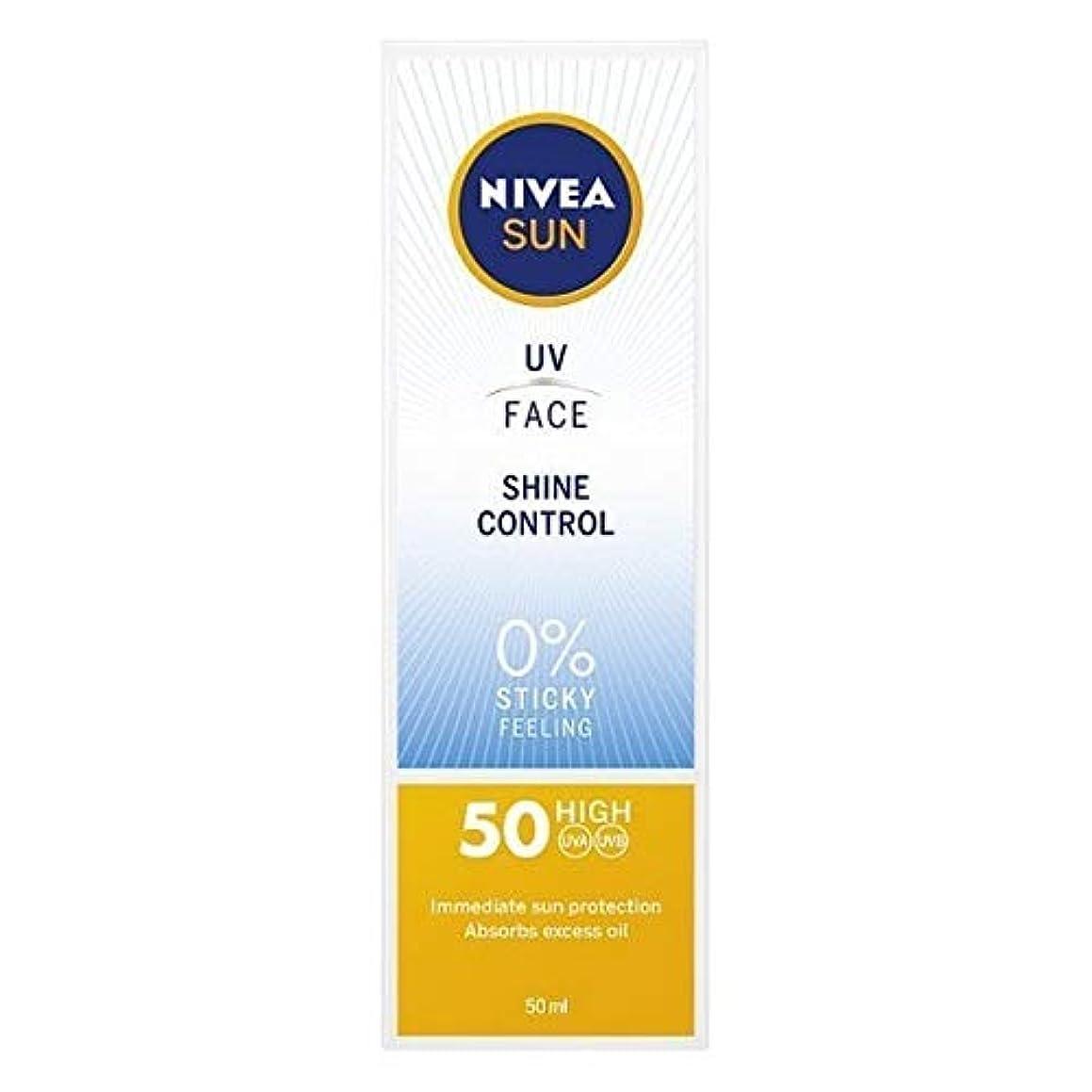 流出天緑[Nivea ] ニベアサンUv顔日焼け止めクリームのSpf 50、輝き制御、50ミリリットル - NIVEA SUN UV Face Suncream SPF 50, Shine Control, 50ml [並行輸入品]
