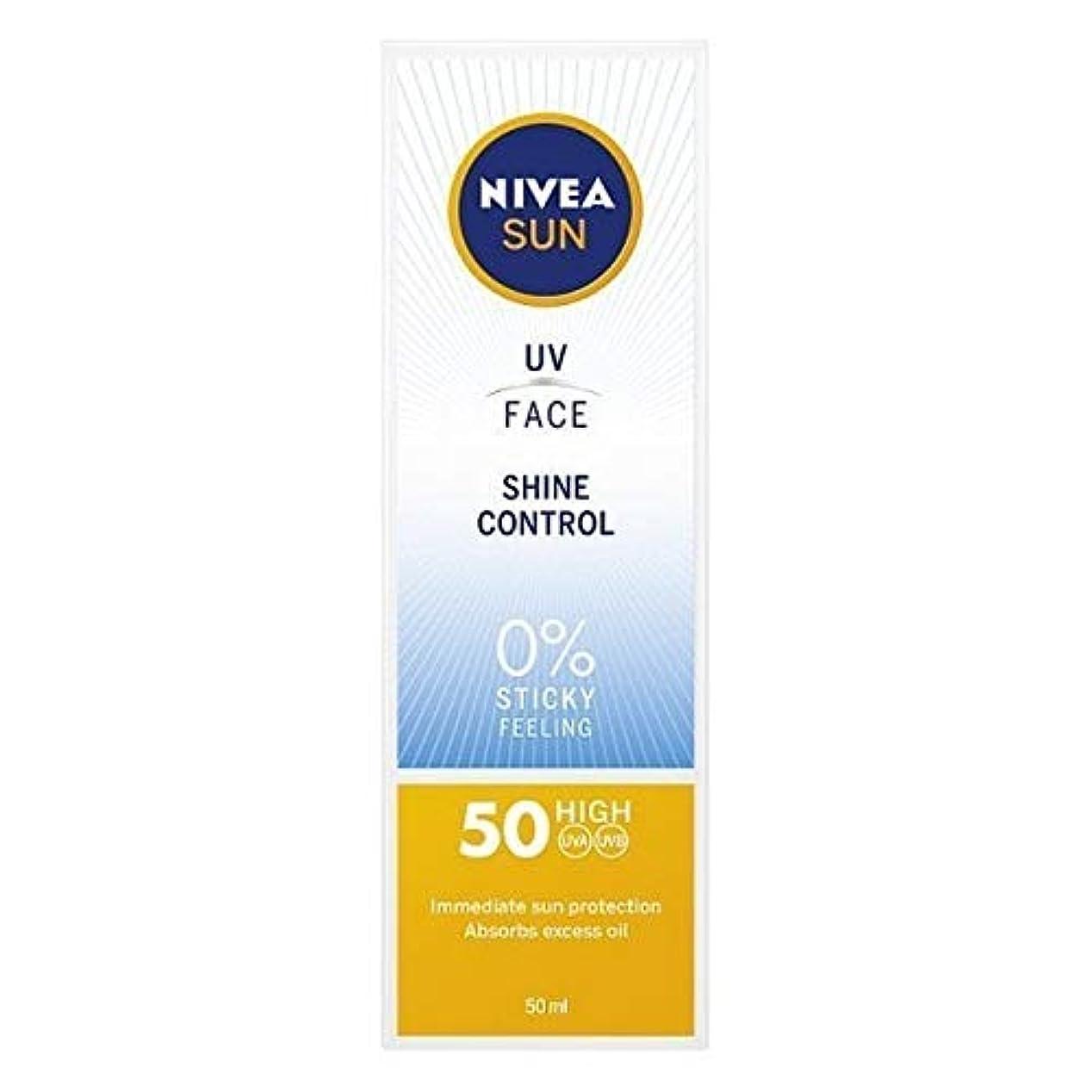 機械的に残り物ラウズ[Nivea ] ニベアサンUv顔日焼け止めクリームのSpf 50、輝き制御、50ミリリットル - NIVEA SUN UV Face Suncream SPF 50, Shine Control, 50ml [並行輸入品]