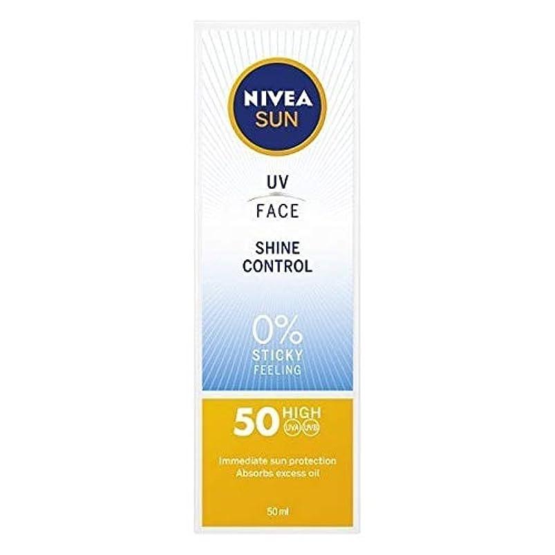 受ける足首と闘う[Nivea ] ニベアサンUv顔日焼け止めクリームのSpf 50、輝き制御、50ミリリットル - NIVEA SUN UV Face Suncream SPF 50, Shine Control, 50ml [並行輸入品]