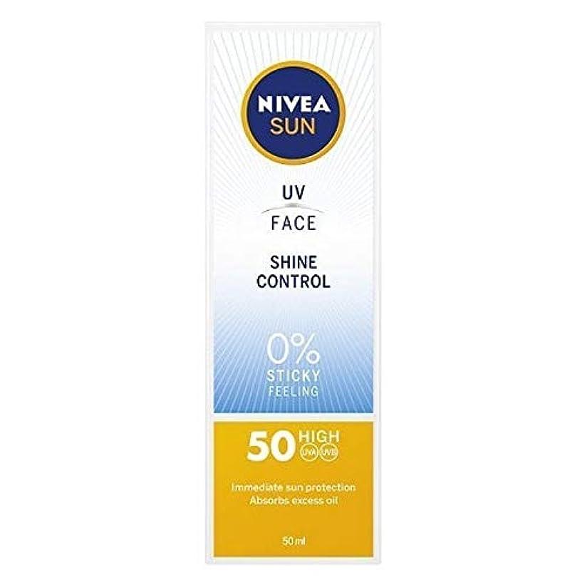 影法医学夜明けに[Nivea ] ニベアサンUv顔日焼け止めクリームのSpf 50、輝き制御、50ミリリットル - NIVEA SUN UV Face Suncream SPF 50, Shine Control, 50ml [並行輸入品]