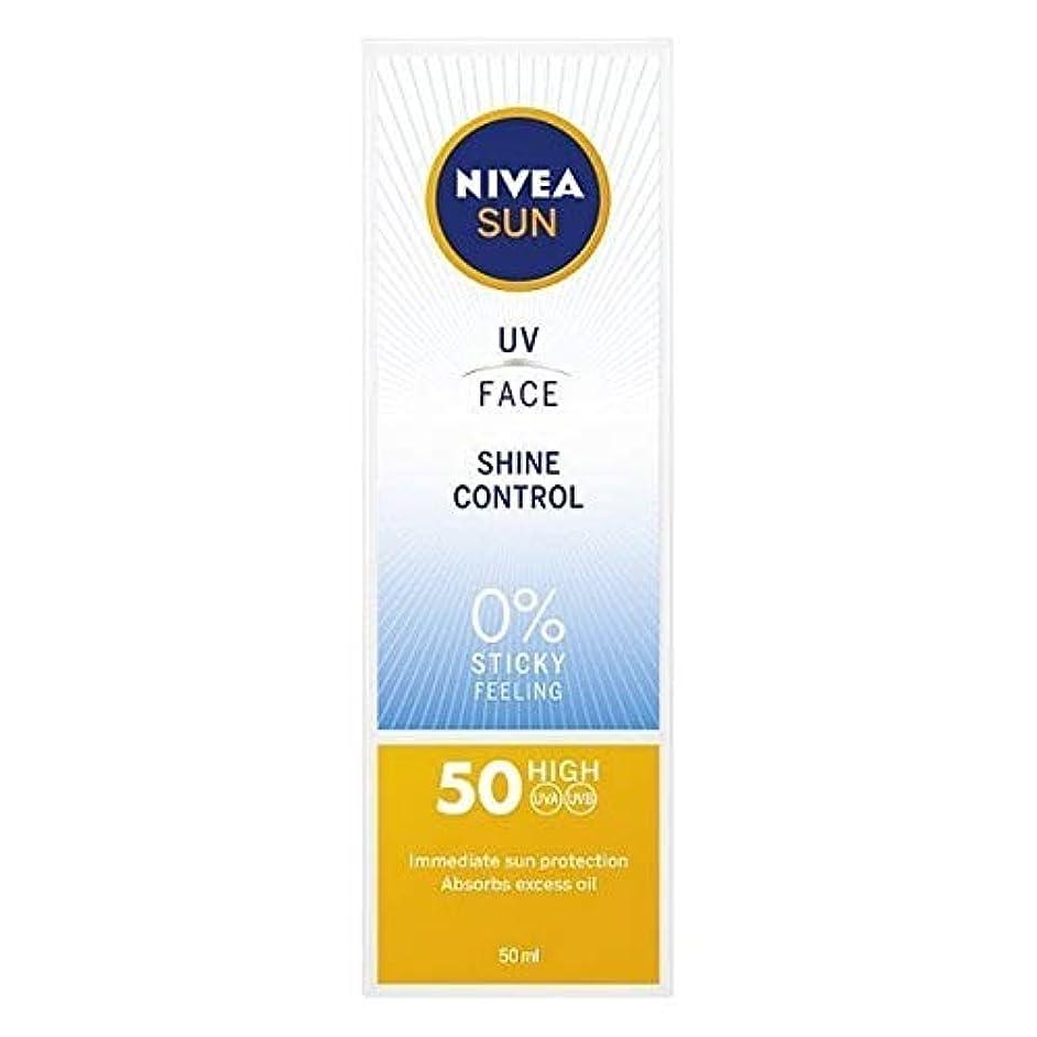 マングル論争的センチメートル[Nivea ] ニベアサンUv顔日焼け止めクリームのSpf 50、輝き制御、50ミリリットル - NIVEA SUN UV Face Suncream SPF 50, Shine Control, 50ml [並行輸入品]