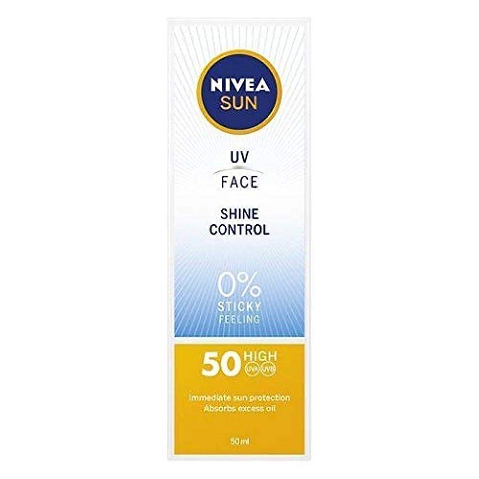 害虫階下姓[Nivea ] ニベアサンUv顔日焼け止めクリームのSpf 50、輝き制御、50ミリリットル - NIVEA SUN UV Face Suncream SPF 50, Shine Control, 50ml [並行輸入品]