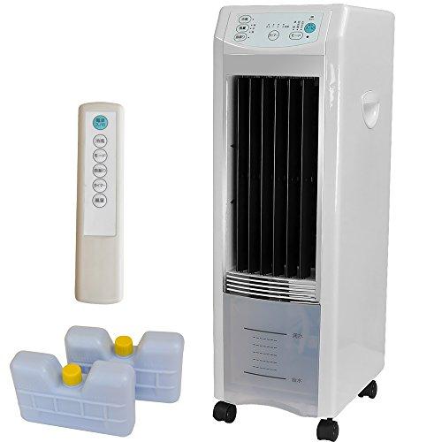 GL 冷風扇 エアコンより省エネ リモコン保冷剤付 さっと洗える取り外し給水タンク タイマー付き V...