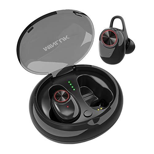 【進化版 Bluetooth 5.0 】MINLUK Bluetooth イヤホン 高音質 両耳 ワイヤレス イヤホン自動ペアリング 運動イヤフォン ブルートゥース イヤホン 防水防汗 高音質 充電ケース付き iPhone Android 対応
