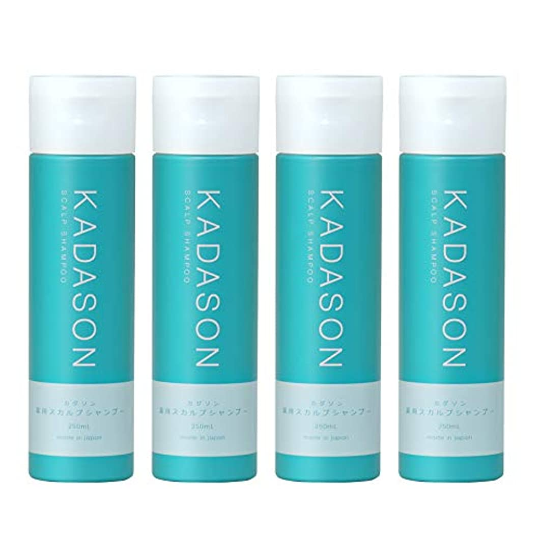 交流するたらい効果的に[ 医薬部外品 ] KADASON (カダソン) スカルプシャンプー 4本セット (250ml×4 / 脂性肌) 薬用シャンプー 天然由来成分 (日本製)