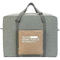 旅行バッグ荷物防水服収納折り畳み服バッグ旅行は、折り畳み式の収納袋を整理する (色 : ライトグレー)