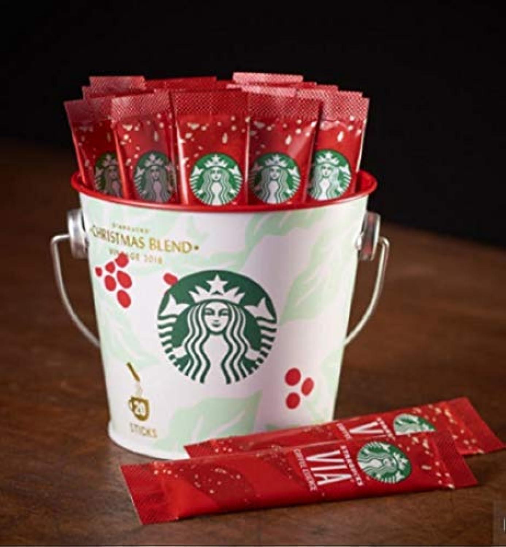 スターバックス ヴィア® コーヒーエッセンス クリスマス ブレンド 20本入り 白 バケツ ギフト プレゼント