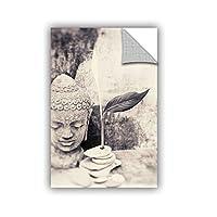 "Elana Ray's Black and White Buddha Art Appeelz Removable Graphic Wall Art, 32 x 48"" [並行輸入品]"