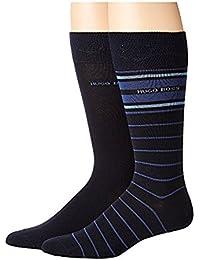 ボス?ヒューゴ?ボス BOSS Hugo Boss メンズ 靴下 ソックス Blue Stripe 2-Pack Crew Sock [並行輸入品]
