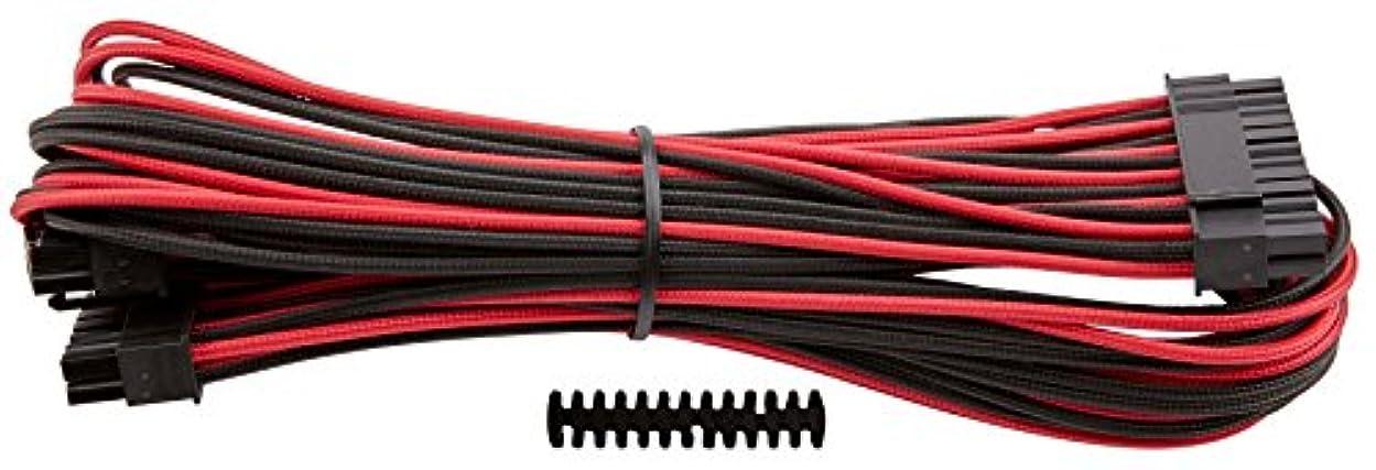 リハーサル覆すアクセスできないCorsair Premium Individually Sleeved ATX 24-Pin Cable RED BLACK PS709 CP-8920162