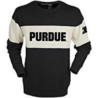 NCAA Purdue Boilermakersユニセックスバーダウンセーター、ブラック、大
