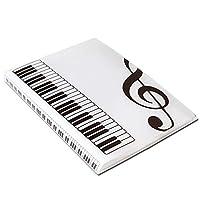 Aprettysunny ミュージックブックフォルダ用紙ファイルポータブルabs