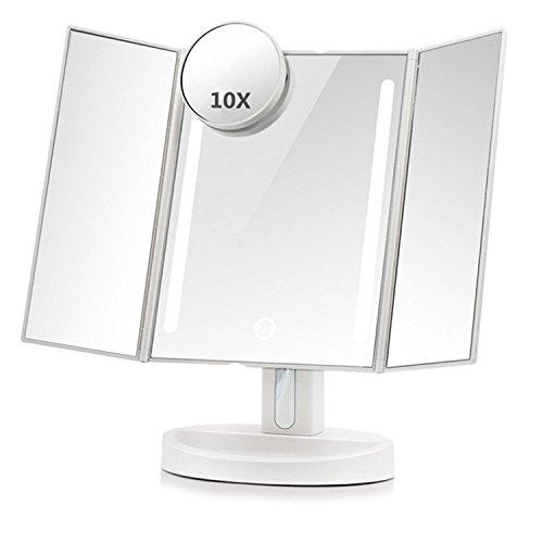 Terresa 卓上ミラー 化粧鏡 三面 LED調光可能 1...