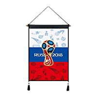 YZUEYT ロシアのワールドカップのマスコット装飾絵画アルゼンチンブラジルチームの標準的なオクルージョン布の壁タペストリー (Size : I)