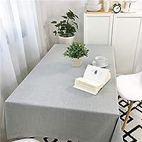 新 アンチ盛りテーブルクロスコットン防水コーヒーテーブルリネン角型ラウンドテーブルクロスグレー (サイズ さいず : W100*L160CM)