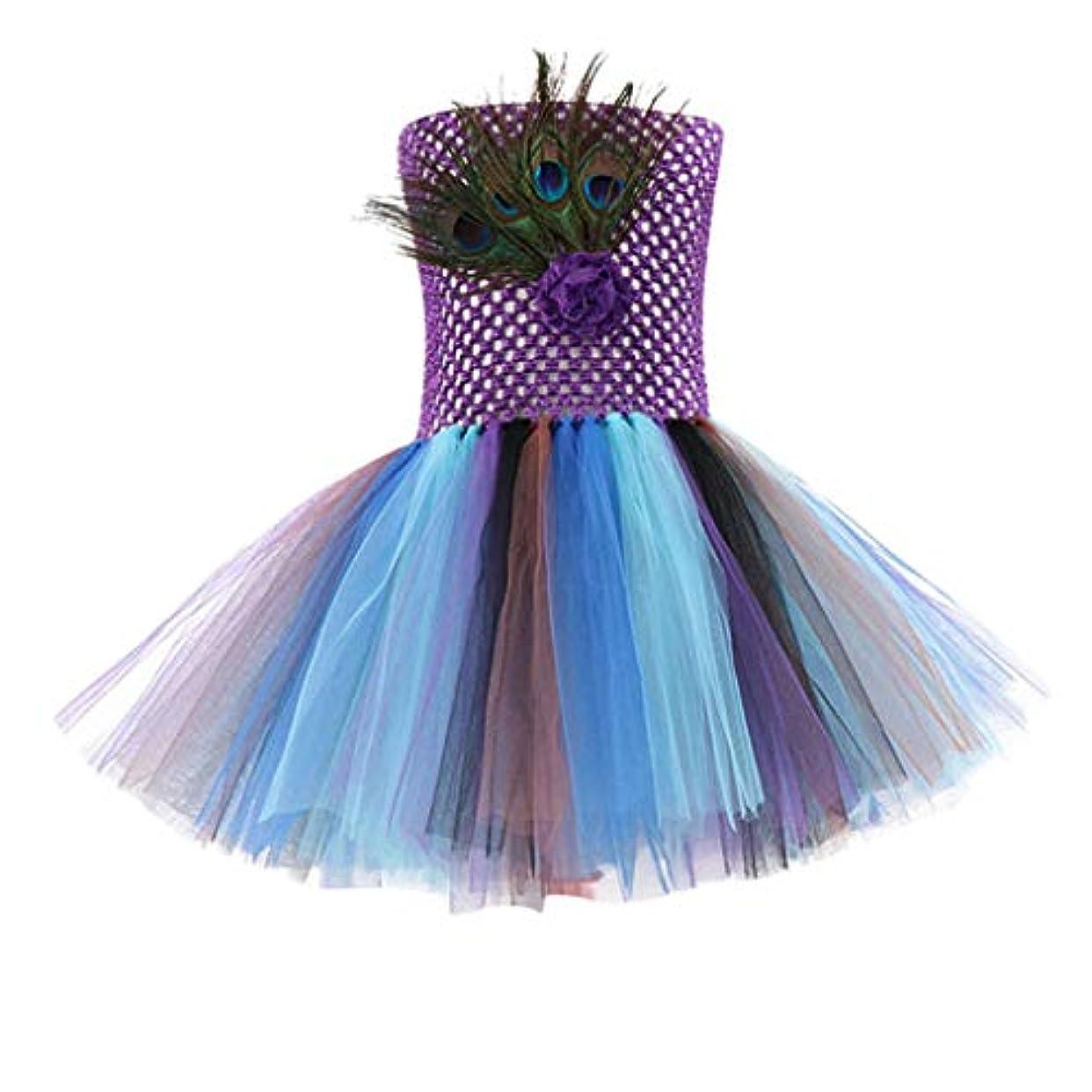 ブランチ暴行祝うTovadoo ハロウィン 子供 ハロウィーンの衣装 のために 赤ちゃん 女の子 - ピーファウル チュール プリンセスドレス ロンパー トゥトゥドレス 衣装