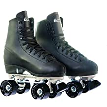 Chicago Men's Leather Lined Rink Roller Skate, Black (Renewed)
