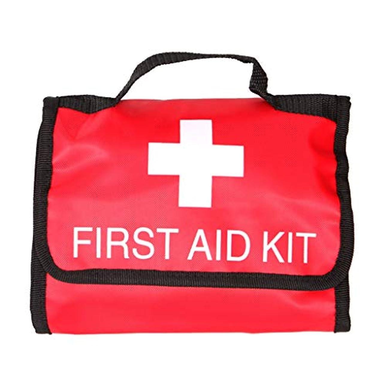 反発なめる熱意XKJPShop 救急箱 屋外サバイバル応急処置キット医療バッグ、救助機器旅行キット、ホーム医療バッグ車の応急処置バッグ 応急処置ケース、家庭、職場、学校 (Color : Red)