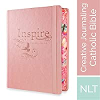 Inspire Catholic Bible: New Living Translation, Creative Journaling, Pink Dove
