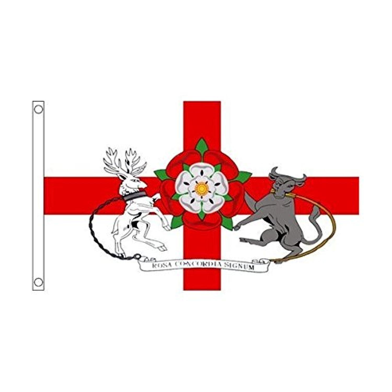 ノーサンプトンシャー州 イギリス 州旗 90cmx150cm 特大フラッグ【ノーブランド品】