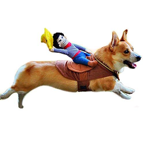 MyMei ペットコスチューム カウボー 変身 犬服 かわいい お馬さん コスプレ ペット用品 犬の服 おしゃれ ワンちゃん服 おしゃれ  (L)