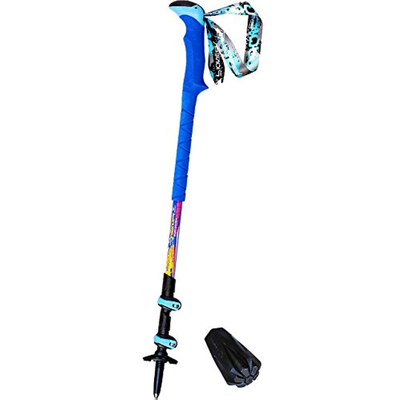 ビリー受取人根絶するトレッキングポールダブルロック超軽量屋外スポーツ伸縮ハイキング炭素繊維高硬度屋外用登山用3つ折り杖