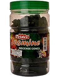 Tridev Jasmine Incense Cones Jar 225グラムパック