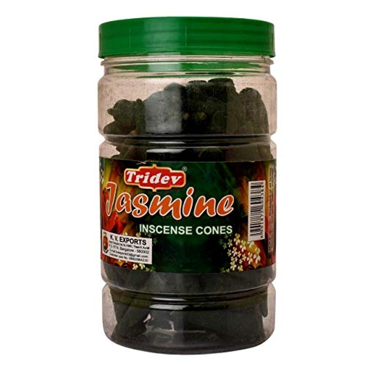 寄り添う違法精算Tridev Jasmine Incense Cones Jar 225グラムパック