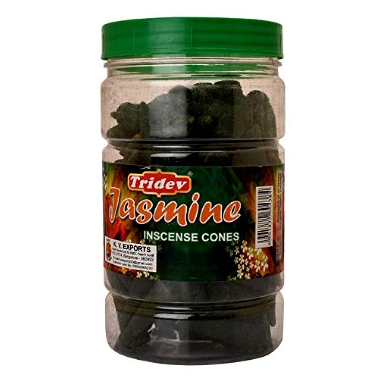 植物学者センチメンタルチチカカ湖Tridev Jasmine Incense Cones Jar 225グラムパック