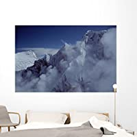 Wallmonkeys Rocks and Clouds Wall Mural by Peel and Stick Graphic (72 in W x 48 in H) WM224165 [並行輸入品]