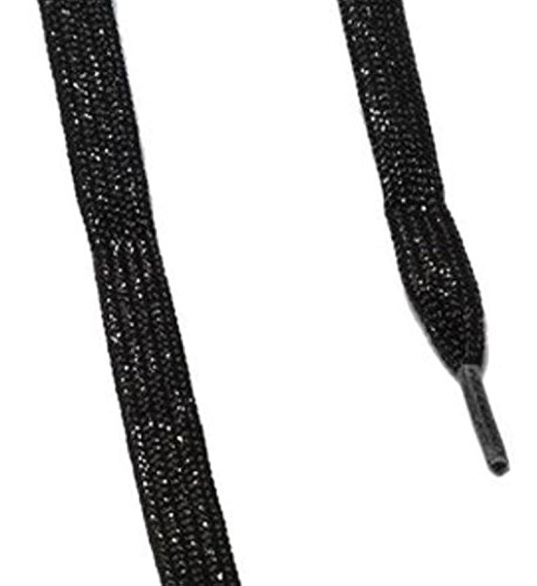 セント不正直花輪is-fit シューレース メタリック  ブラックRI-1 120cm