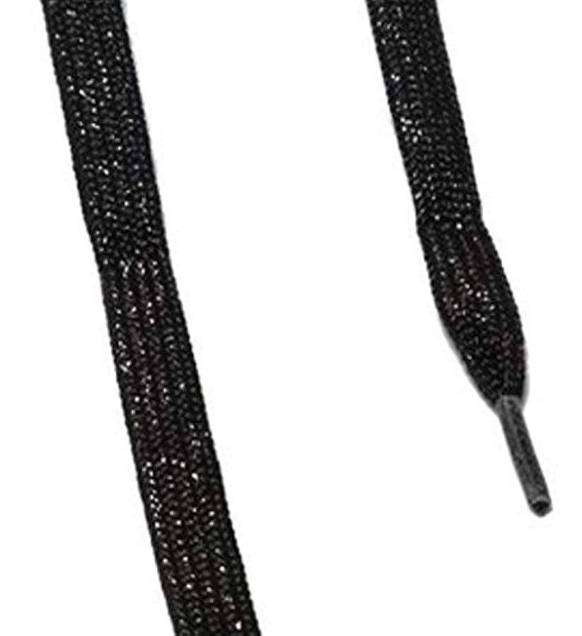 補正曲げるペインティングis-fit シューレース メタリック  ブラックRI-1 120cm