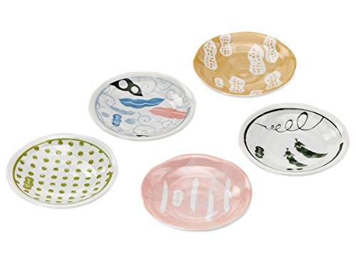 豆々福々 五種小皿揃 AM-KM111