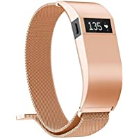 inverlee Milanese磁気ループステンレススチールWatch Band withケースfor Fitbit Charge HR S