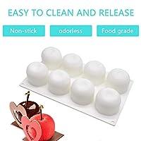 アップルケーキシリコーン型3Dケーキフォンダン型ケーキデコレーションツールウェディングカップケーキ型丈夫なキッチンアクセサリー(白)