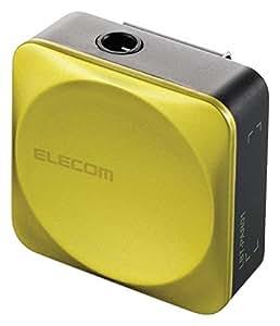 エレコム Bluetooth ブルートゥース レシーバー 音楽専用 iPhone android対応 1年間保証 グリーン LBT-C/PAR01AVGN