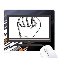 食いしばったジェスチャー線描画パターン ノンスリップラバーマウスパッドはコンピュータゲームのオフィス