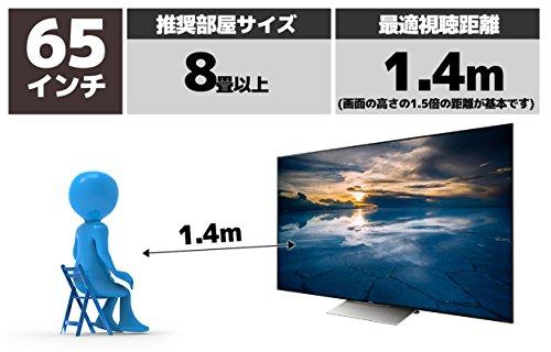 ソニー65V型液晶テレビブラビアKJ-65X9300D4KAndroidTV外付けHDD録画外付けHDD裏番組録画2016年モデル