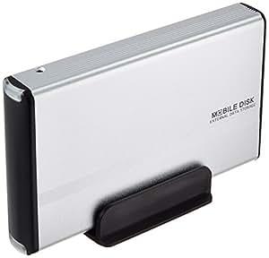 玄人志向 3.5型HDDケース IDE接続 USB2.0対応 シルバー GW3.5AA-PU2