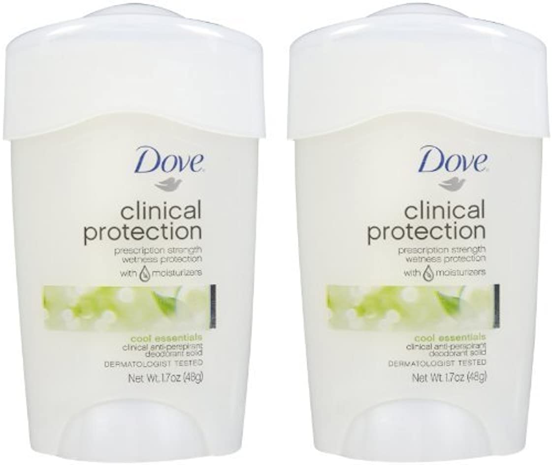 してはいけないコークス賢いDove Clinical Protection Antiperspirant & Deodorant, Cool Essentials - 1.7 oz - 2 pk by Unilever [並行輸入品]