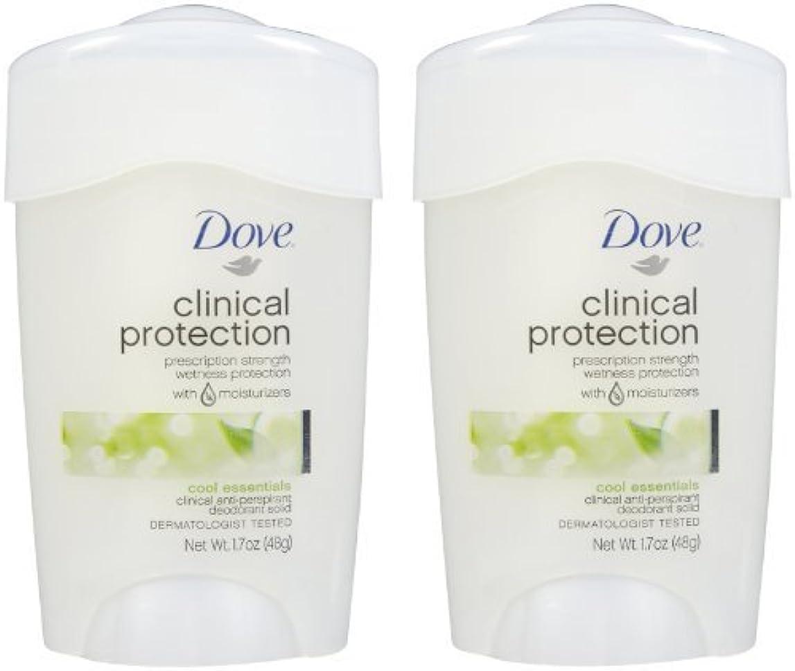 絶望トーナメント一流Dove Clinical Protection Antiperspirant & Deodorant, Cool Essentials - 1.7 oz - 2 pk by Unilever [並行輸入品]