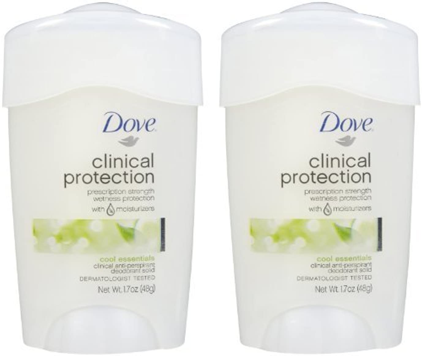 メトリック獲物導入するDove Clinical Protection Antiperspirant & Deodorant, Cool Essentials - 1.7 oz - 2 pk by Unilever [並行輸入品]