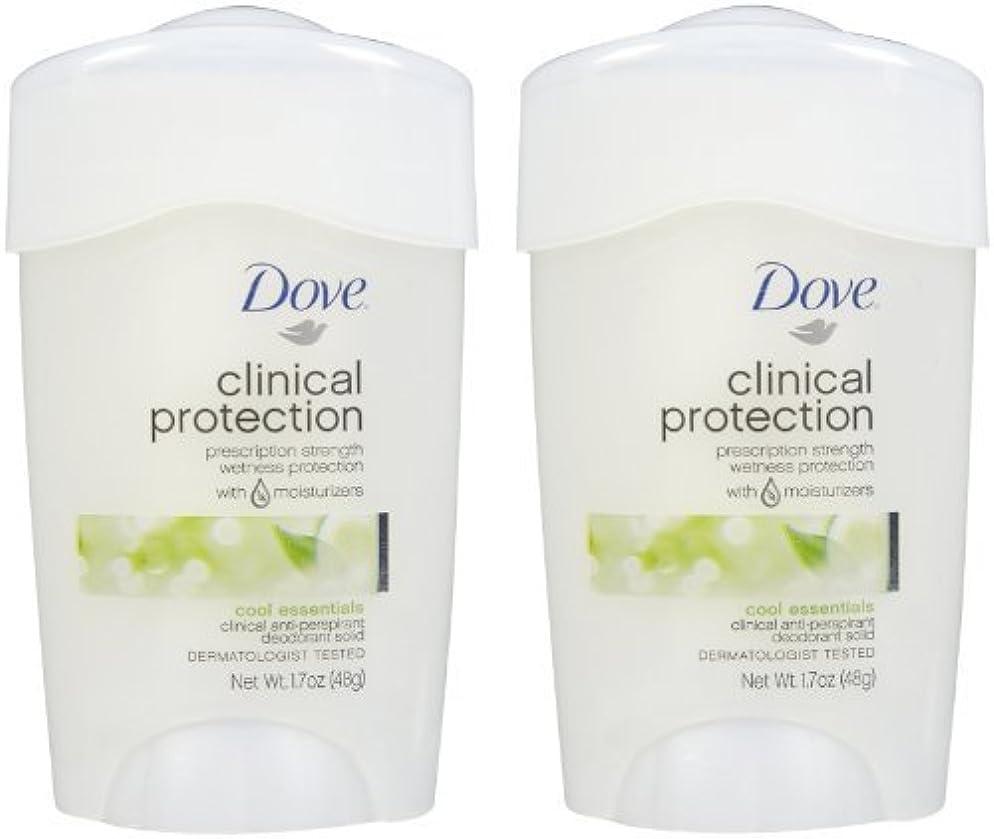 性能直面する予防接種するDove Clinical Protection Antiperspirant & Deodorant, Cool Essentials - 1.7 oz - 2 pk by Unilever [並行輸入品]