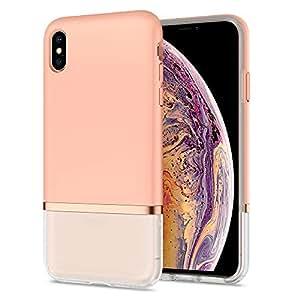 【Spigen x LA MANON】 スマホケース iPhone XS Max ケース 6.5インチ 対応 軽量 薄型 マット おしゃれ シック デザイン Qi充電 ワイヤレス充電 ジュープ Jupe 065CS25371 (ミルクピンク)