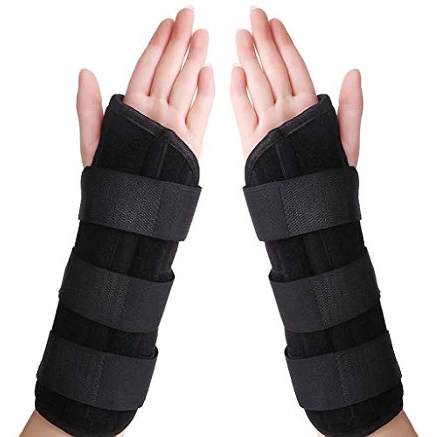 単調なゴネリル個人的な手首骨折固定、調節可能な通気性捻挫前腕手首副木スポーツ保護ツール用高齢者入院患者アーム副木,1pair,L