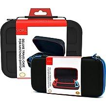 Nintendo Switch ケース ニンテンドースイッチの保護ケース VORI 収容力が大きい 防水 防塵 耐衝撃 全面保護 キャリングケース 旅行用収納バッグ 小物収納可 二つのバッグ ケースセット ブラック
