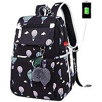 School Bags for Girls Female Laptop Backpack USB Backbag Children Backpacks Cute Cat School Backpack for Girls Bag Pack