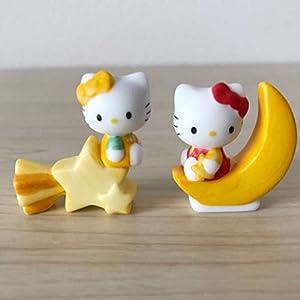 ☆ハローキティ ミミィ☆陶器製 千趣会 マンスリーフィギュア 9月 月と星 置物 マスコット 2003年 サンリオ