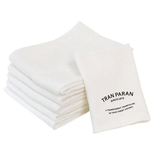 TRANPARAN 抗菌防臭 竹繊維 バンブーフェイスタオル5枚・ハンドタオルセット F